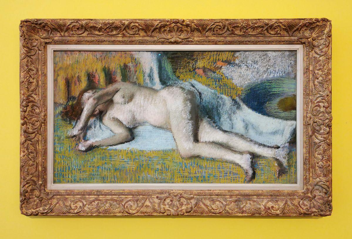 Edgar Degas - Après le bain (femme nue couchée), c. 1885 - Paul Valéry et les peintres - Le cercle amical proche - Musée Paul Valéry à Sète