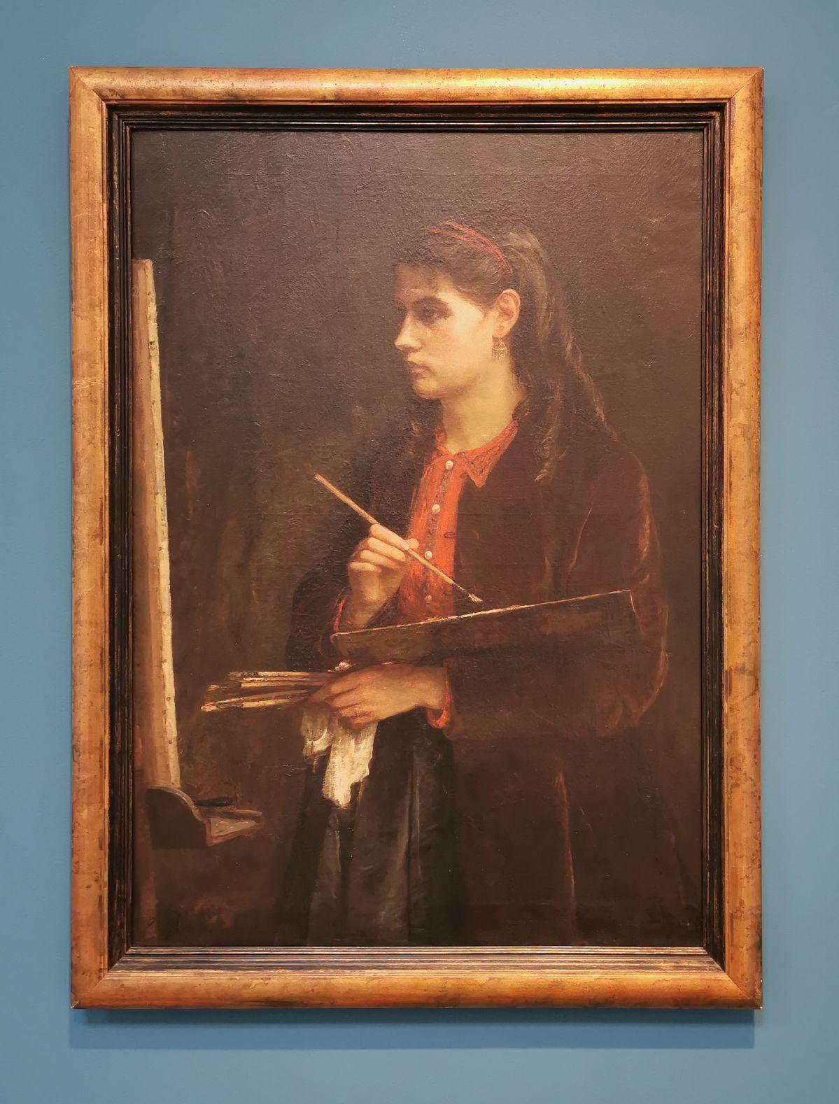 Edma Morizot - Portrait de Berthe, c 1865 - Paul Valéry et les peintres - Le cercle familial - Musée Paul Valéry à Sète