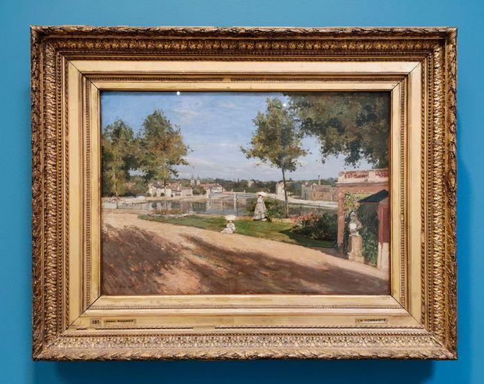 Ernest Rouart - La terrasse au bord de la Seine à Melun, 1880 - Paul Valéry et les peintres - Le cercle familial - Musée Paul Valéry à Sète
