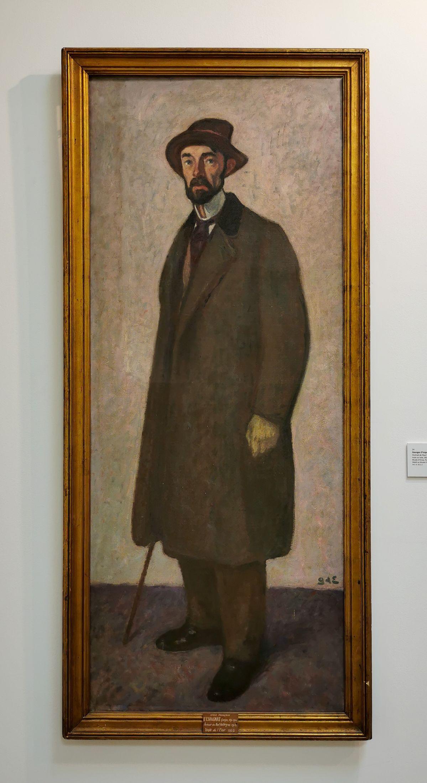 Georges d'Espagnat - Portrait de Paul Valéry, 1913 - Paul Valéry et les peintres - Le cercle amical proche - Musée Paul Valéry à Sète