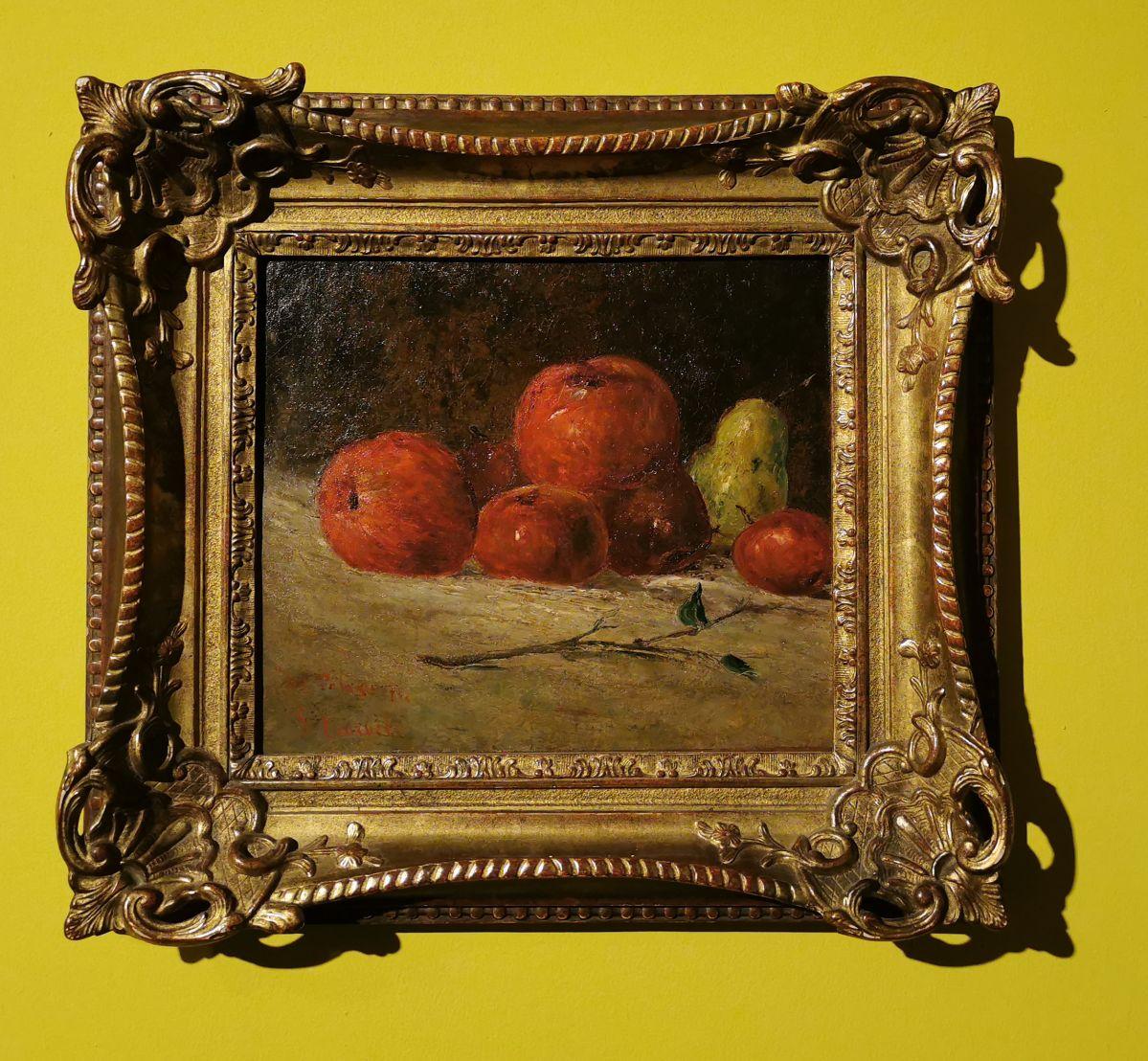 Gustave Courbet - Nature morte aux pommes et poire, 1871 - Paul Valéry et les peintres - Autres regards de Valéry sur les peintres depuis sa jeunesse - Musée Paul Valéry à Sète