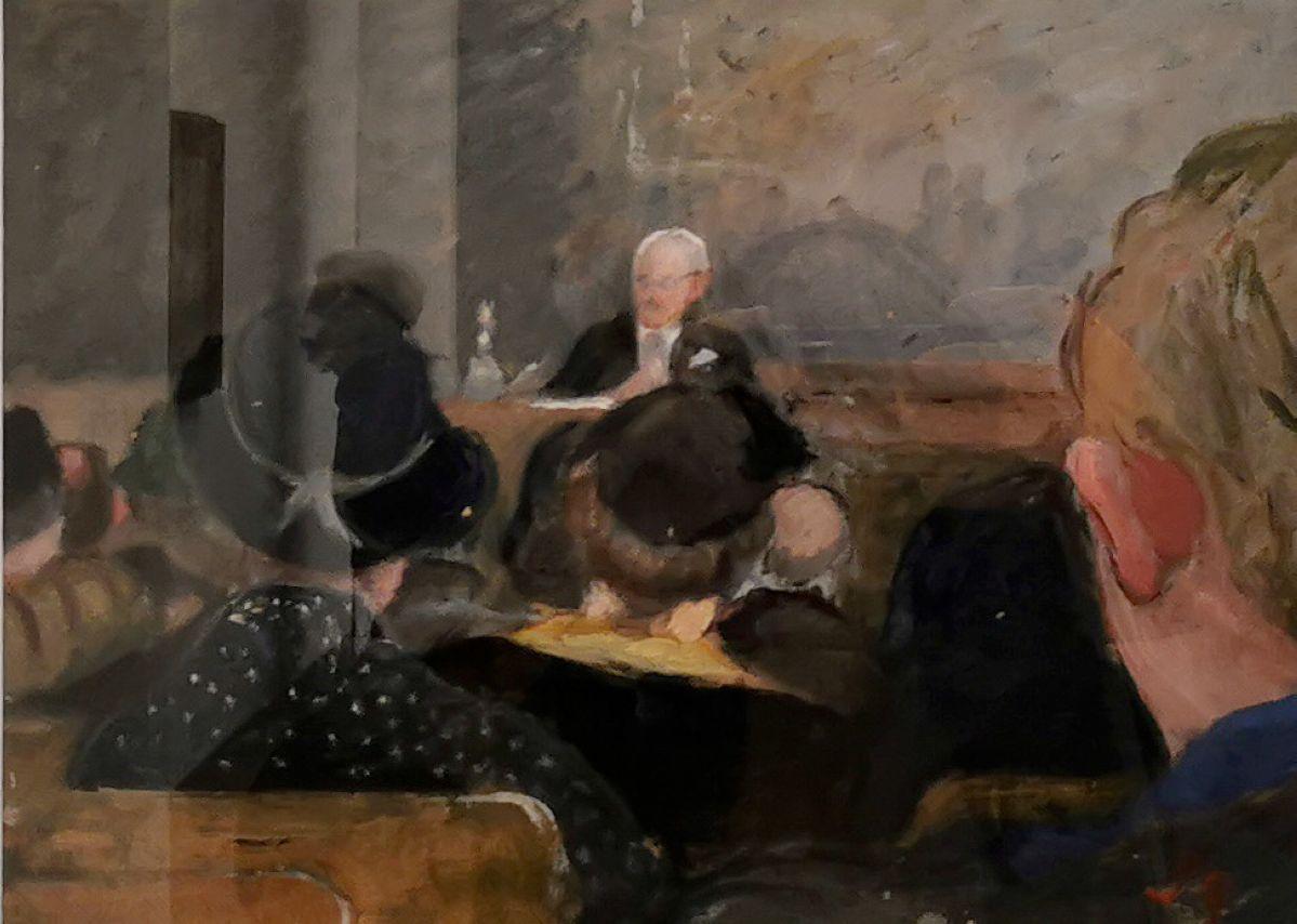 Paule Gobillard - Paul Valéry faisant son cours au Collège de France, c 1937 - Paul Valéry et les peintres - Le cercle familial - Musée Paul Valéry à Sète