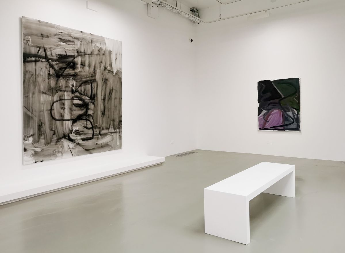 Christopher Wool - Untitled, 2008 et Josh Smith - Untitled, 2007 - 00s - Collection Cranford - les années 2000 au MOCO Montpellier