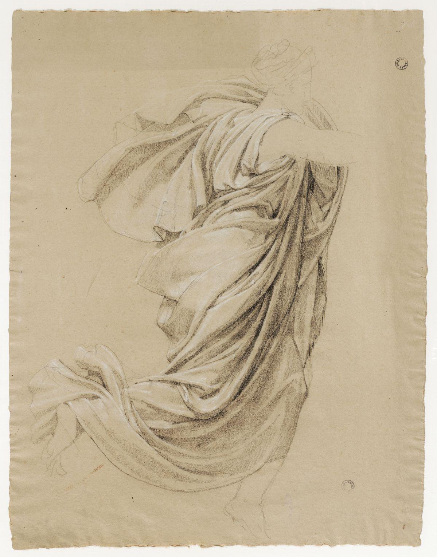 Jacques Réattu - Plafond du Grand-Théâtre de Marseille, étude de draperie pour une muse Arles, 1819