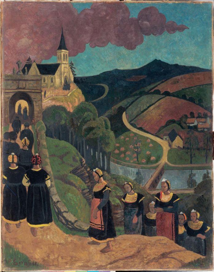 Paul Sérusier, Le Pardon en Bretagne ou Le Pardon de Notre-Dame-des-Portes à Châteauneuf-du-Faou, vers 1894 © Musée des beaux-arts de Quimper
