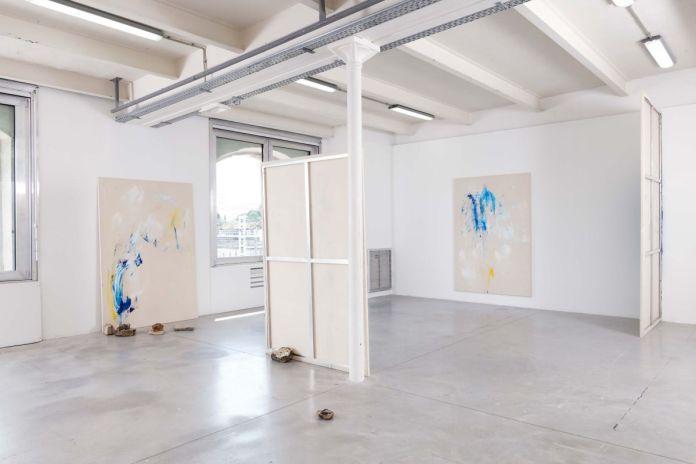Tandava Paintings, Vue de l'exposition Sur pierres brûlantes, La Friche la Belle de Mai-Triangle, Marseille, 2020 © Aurélien Mole