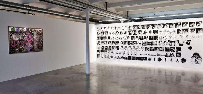 Baya, Paysage aux oiseaux, 1966 et Nawel Louerrad, Regretter l'absence de l'astre, 2021 - En attendant Omar Gatlato - Fiche la Belle de Mai - Marseille