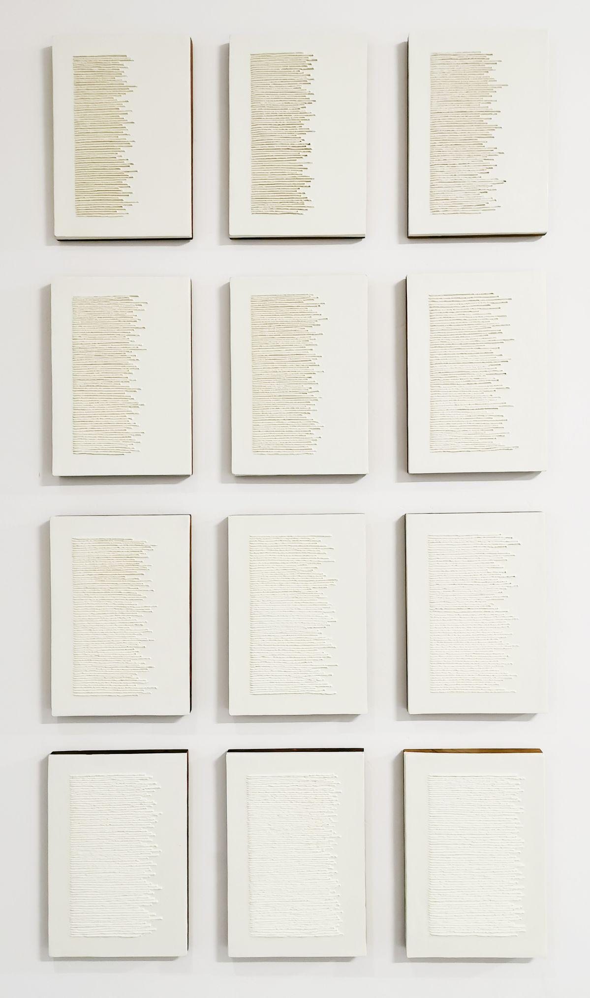 Pascale Hugonet - Épigraphie 1 (polyptyque), 2015 - Traces à la N5 Galerie - Montpellier