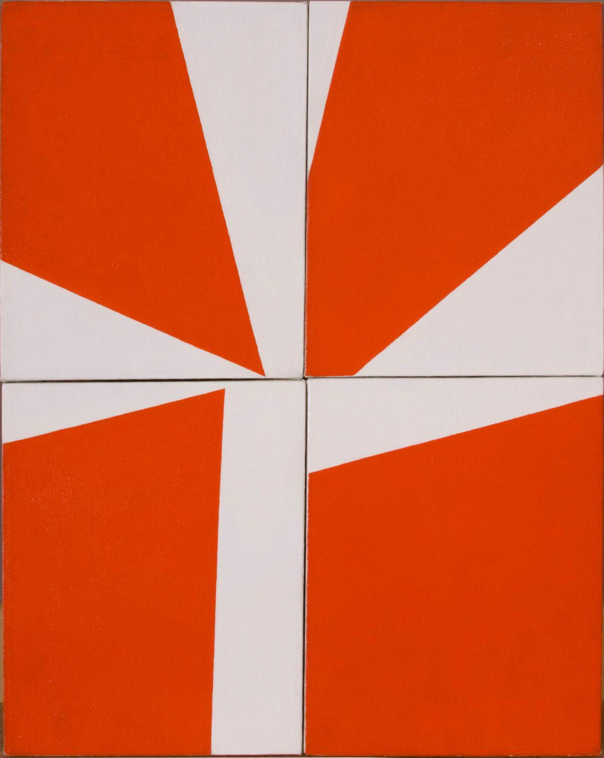 Ralph Coburn, Orange and White Abstracon, 1950