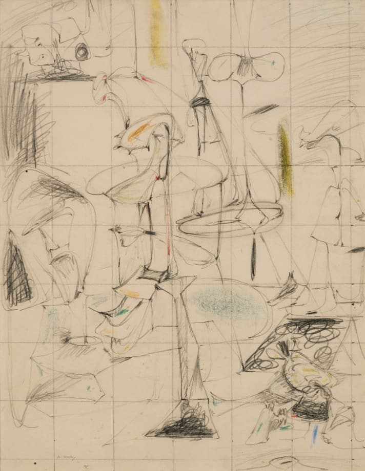 Arshile Gorky - Study for the Betrothal, 1946 - 1947