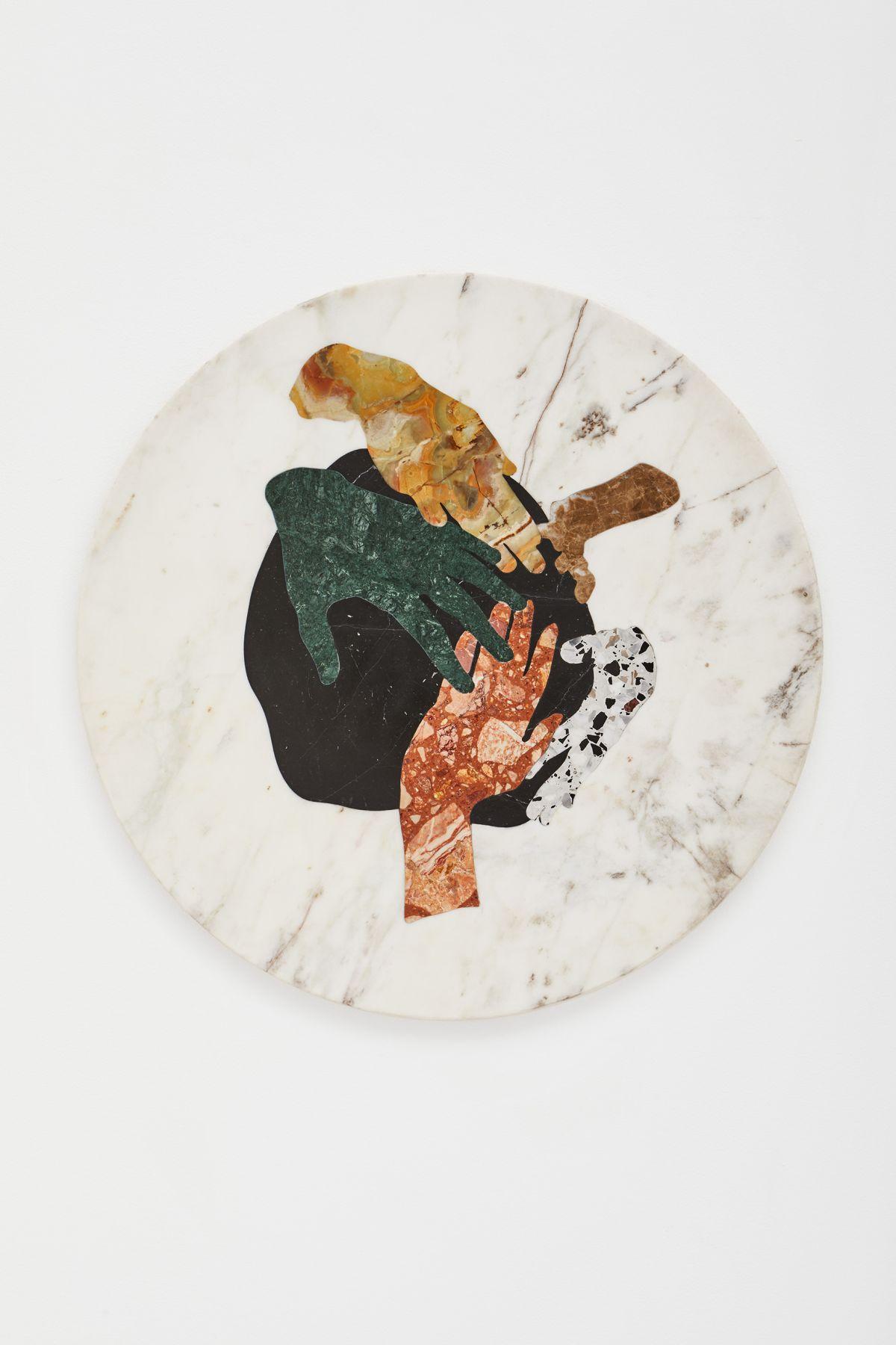 Alice Guittard - 5 mains, 2021 - échec — plaisir à la Double V Gallery, Marseille. Photo ©Jean-Christophe_Lett