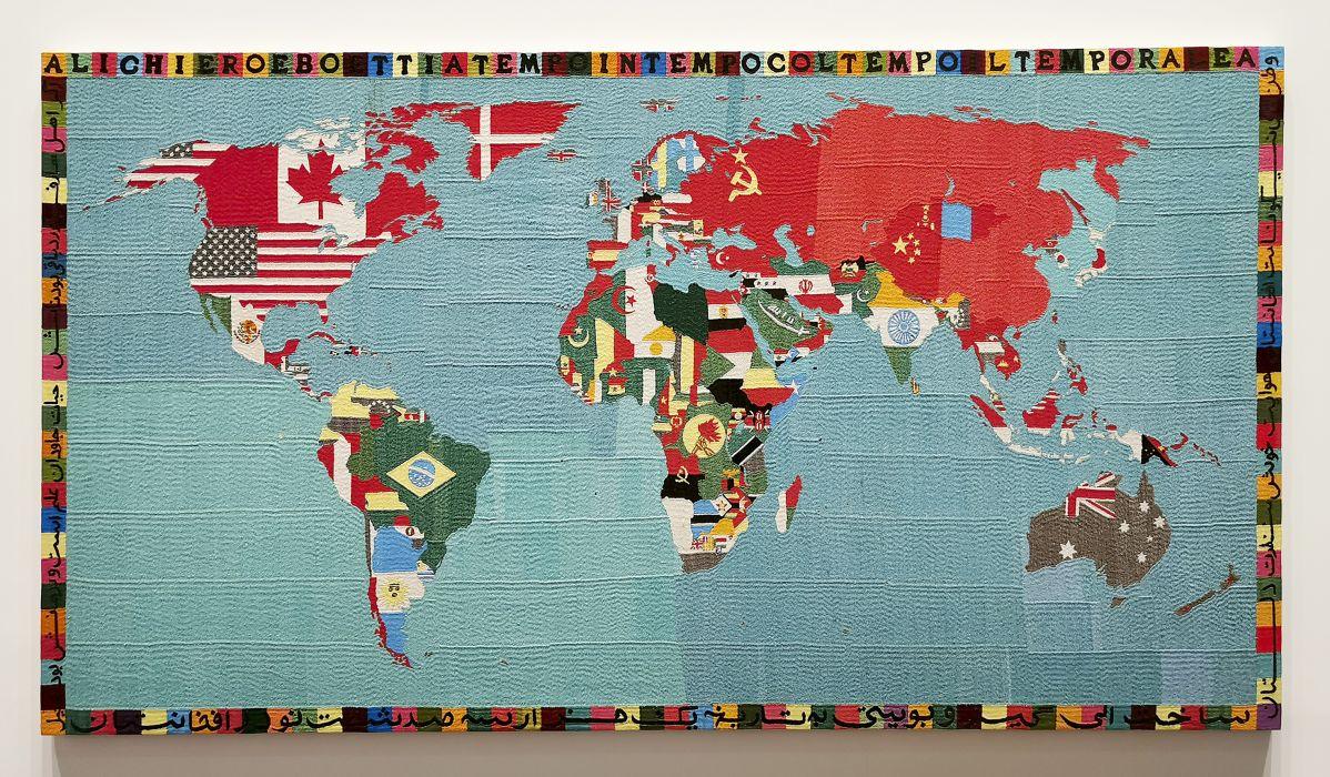 Alighiero Boetti - Mappa, 1988-1989 - The Impermanent Display , Collection Maja Hoffmann - Luma Arles 2021