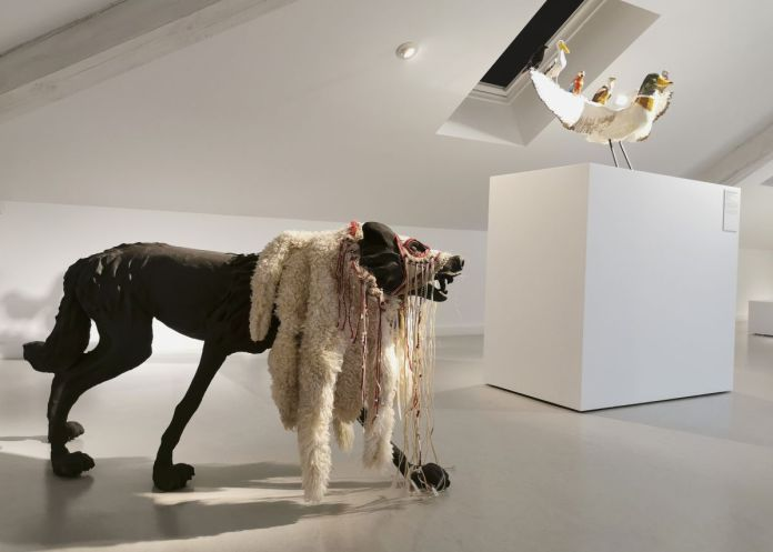 Pas si bêtes ! - Sculpture en fête ! Les dix ans de la Collection Villa Datris - Vue de l'exposition au rez-de-chaussée