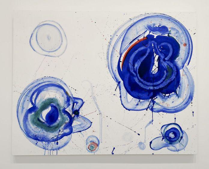 Sam Francis, Blue Balls, Vers 1961-1962. Huile sur toile, Stockholm, Moderna Museet Donation Pontus Hultén, 2005