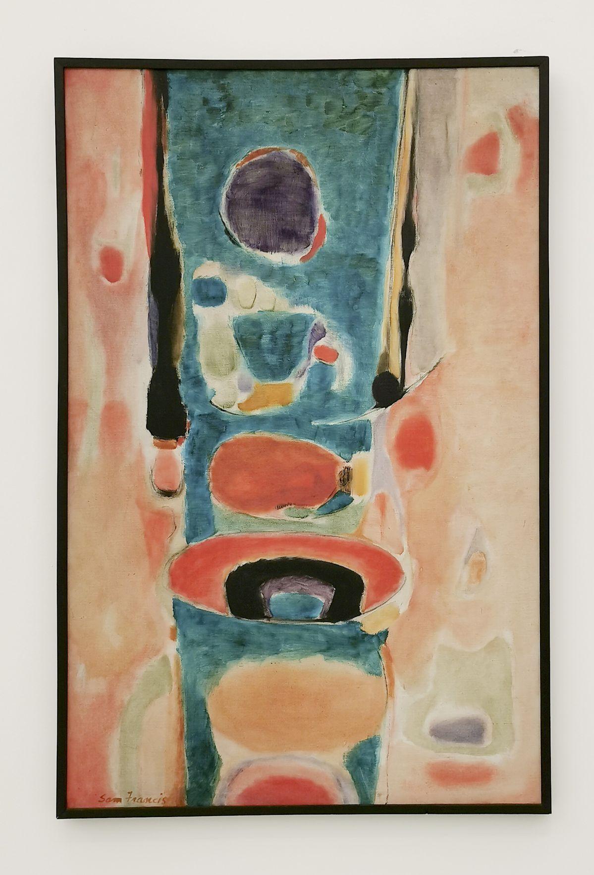 Sam Francis, Sans titre, 1951 - «United States of Abstraction» au Musée Fabre