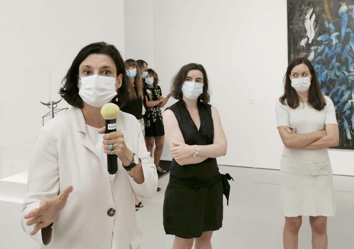 United States of Abstraction au Musée Fabre - Sophie Lévy, Claire Lebossé et Maud Marron-Wojewodzki, commissaires de l'exposition