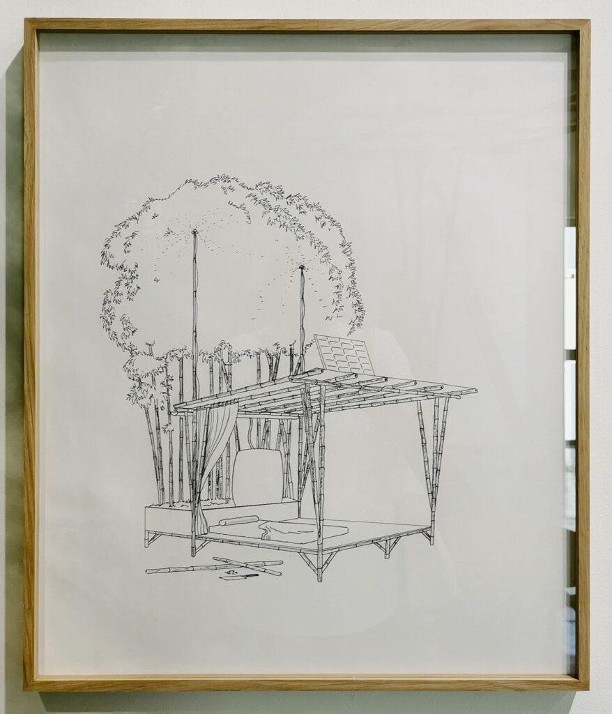 Olivier Nattes Habiter léger, série Architectures autogénératives et symbiotiques, 2021 - «Être monde» au Frac Provence-Alpes-Côte d'Azur