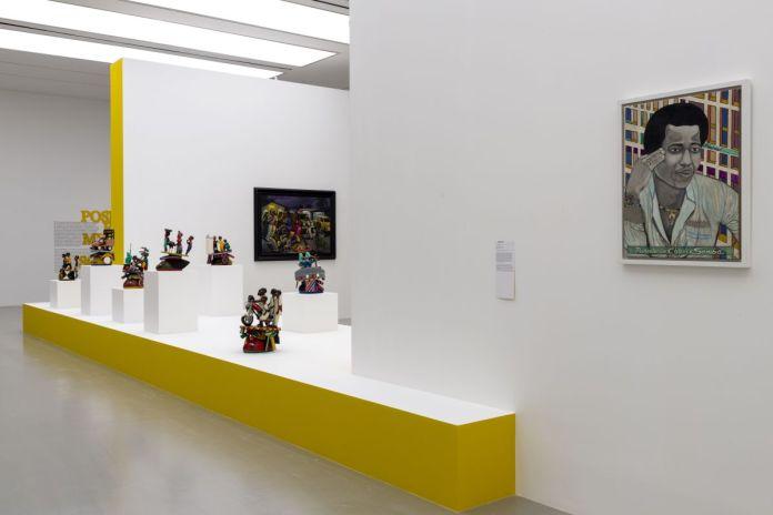 Poses et mise en scène - Cosmogonies - Zinsou, une collection africaine au MOCO-Hôtel des collections. Photo Marc Domage