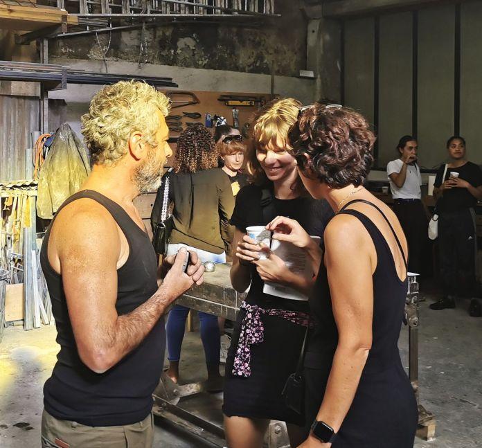 Wilfrid Almendra, Mégane Brauer et Céline Kopp dans l'atelier - «Shout, Sister, Shout!» à La Rose - Marseille