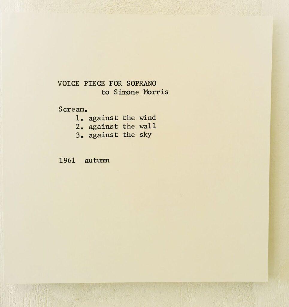 Yoko Ono - Instruction (1961) - Under the same sky à l'Aire - Arles