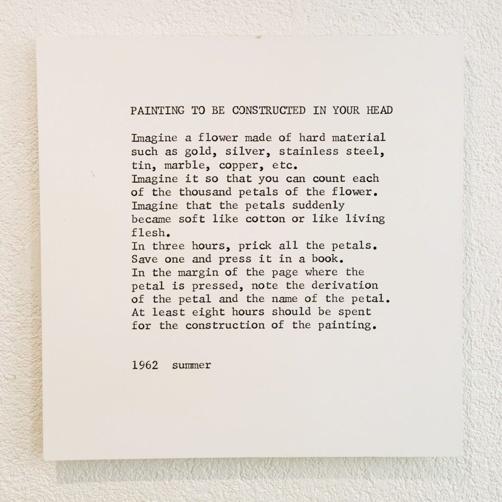 Yoko Ono - Instruction (1962) - Under the same sky à l'Aire - Arles