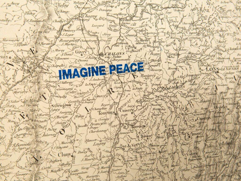 Yoko Ono - Imagine Map Piece (2003-2013) - Under the same sky à l'Aire - Arles - Arles - Photo ©Mathilde Sangnier 04