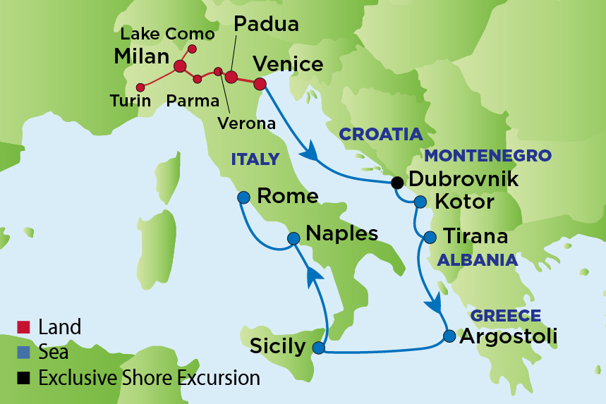 Journey to Italy and the Adriatic