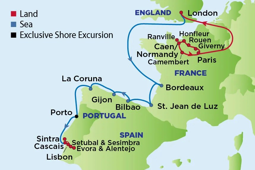 Journey to Normandy, Bordeaux and the Wine Regions of Portugal