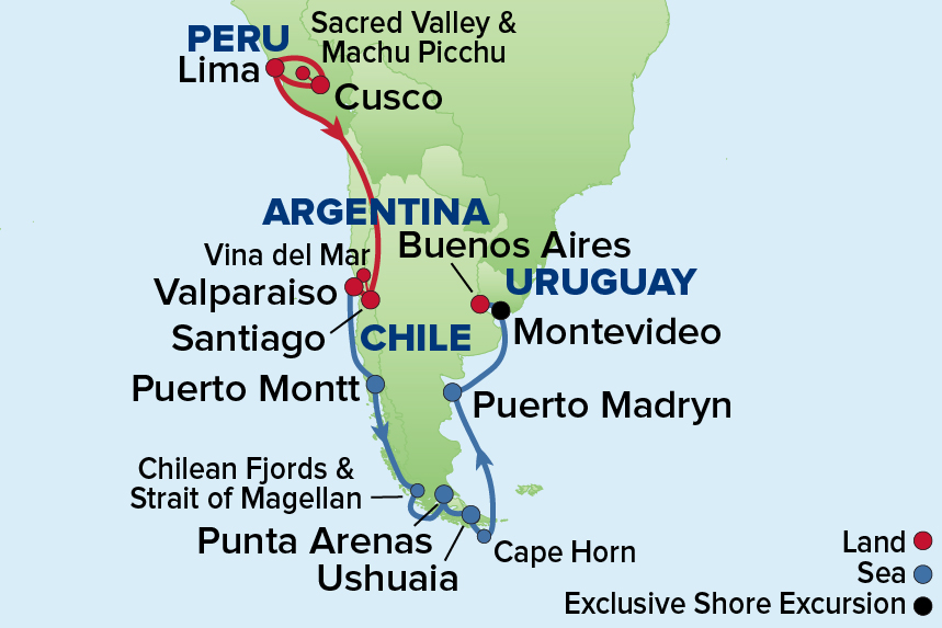 Ej to Machu Picchu, Chile and Argentina