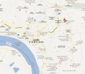 mappa Vientiane