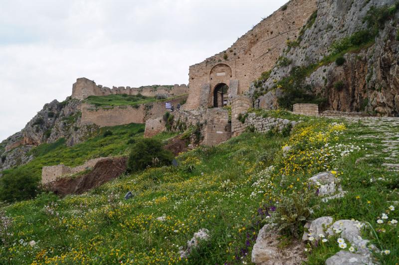 Acrocorinto,mura esterne