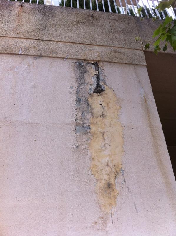 Lesiones por falta de Remates contra el agua | Arquitecto Técnico Paterna, Aparejador Paterna