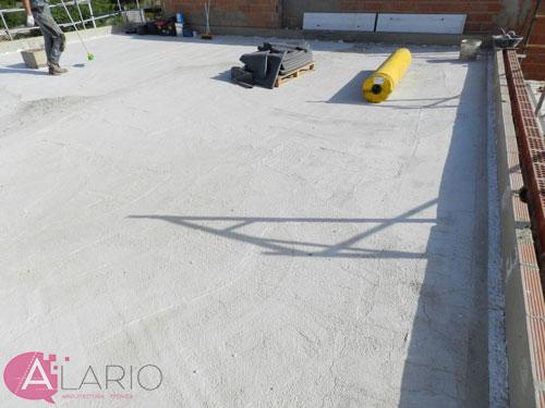 Impermeabilización de cubierta con lámina de EPDM. Preparación del soporte