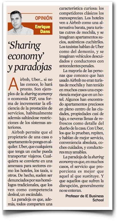 Sharing economy y paradojas - Expansión (pdf)