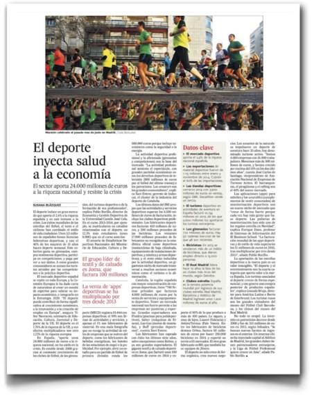 El deporte inyecta salud a la economía - El País (pdf)