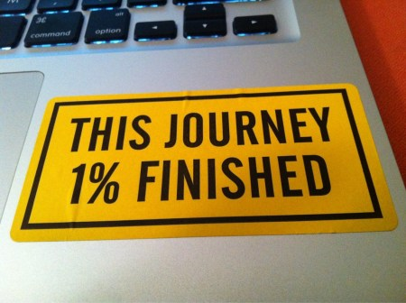 Facebook: this journey 1% finished