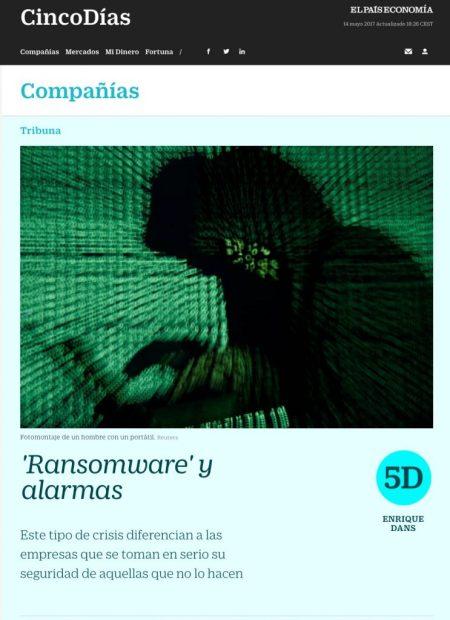 Ransomware y alarmas - Cinco Dias