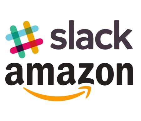 Slack and Amazon® logos