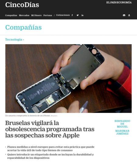 Bruselas vigilará la obsolescencia programada tras las sospechas sobre Apple® - El País
