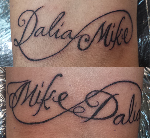 Tattoos For Couples With Names