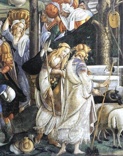 capilla sixtina sefora detalle fresco de Botticelli