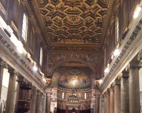 Nave central de Santa Maria in Trastevere