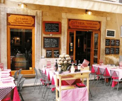 tour especial roma de noche restaurante