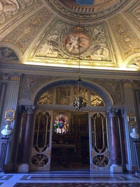 roma barroca capilla palacio Doria Pamphilj
