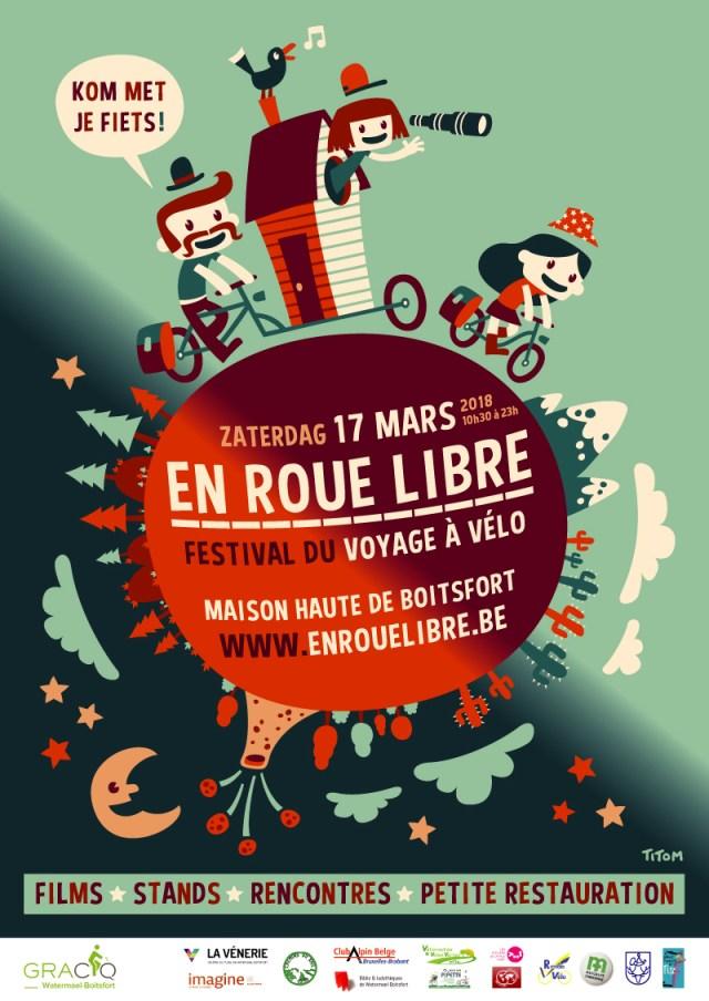 Le festival du voyage à vélo, Bruxelles, 17 mars 2018 Affiche_voyagevelo