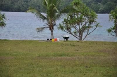 Le seul accès en eau douce de l'île de Vao