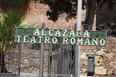 Entrée du Théâtre romain - Malaga