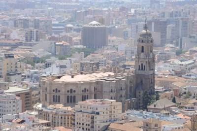 La cathédrale de Malaga vue générale