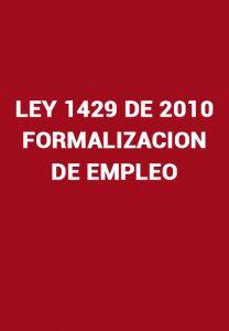 Ley 1429 de 2010