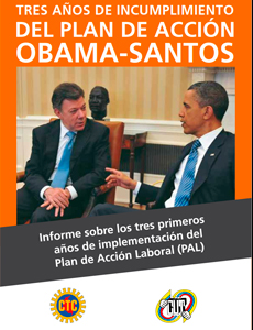 Informe Plan De Acción Laboral Obama Santos 2014